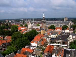 Stadhuis en Sint-Janskerk in Gouda