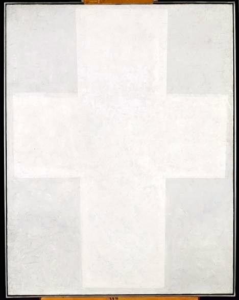 Kazimir Malevitsj, Wit suprematisch kruis, 1920-21, Stedelijk Museum, Amsterdam.