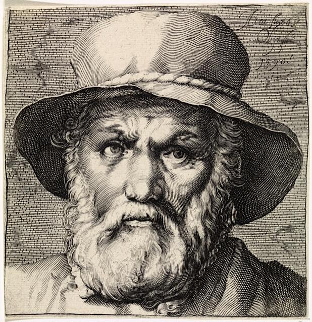 Portret van D.V. Coornhert naar prent van Jan Harmensz Muller (1571-1628), naar schilderij van Cornelis Cornelisz. Afbeelding: Rijksmuseum, http://hdl.handle.net/10934/RM0001.COLLECT. 345176.