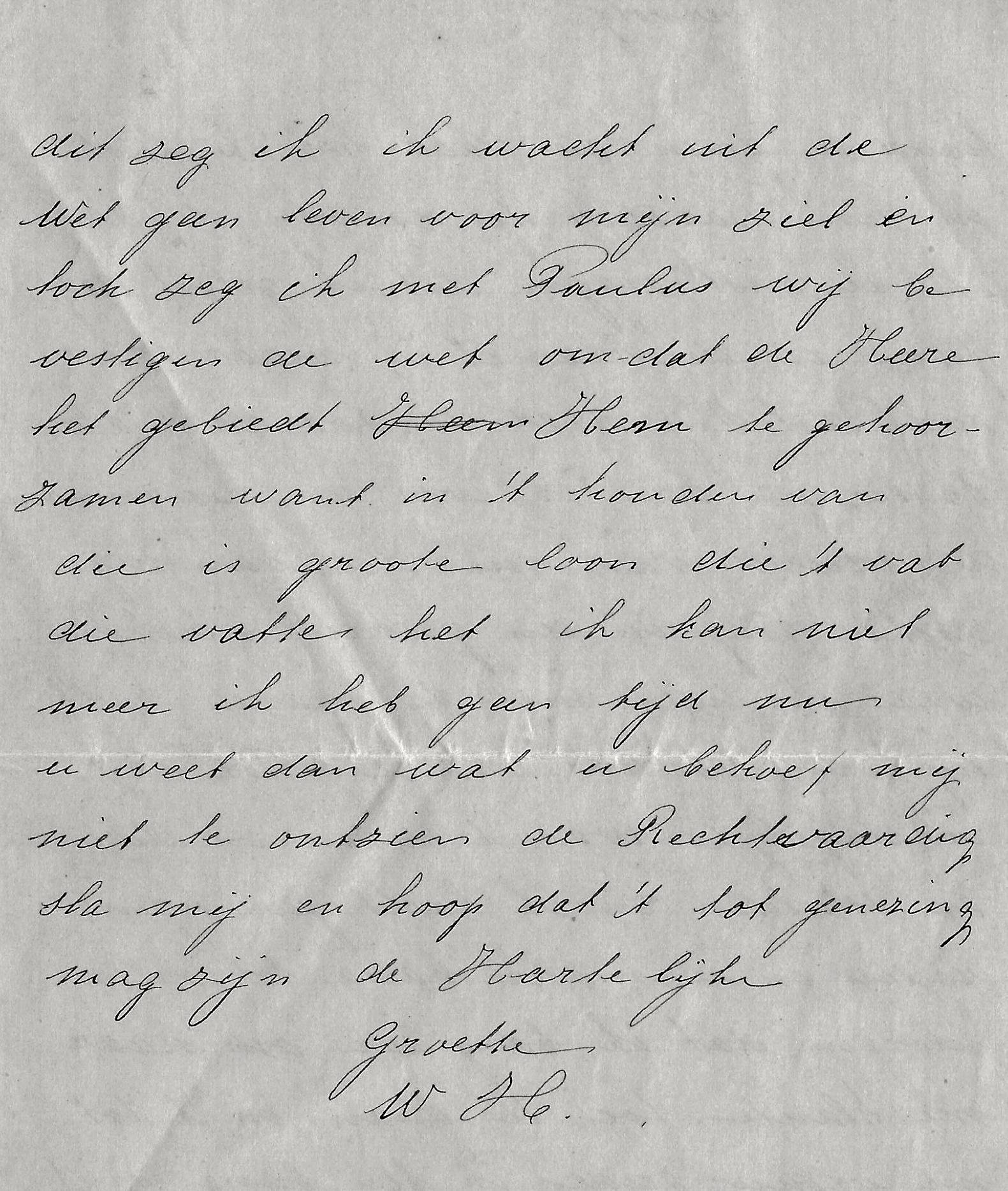 Fragment brief W. Huijskes d.d. 20-2-1927
