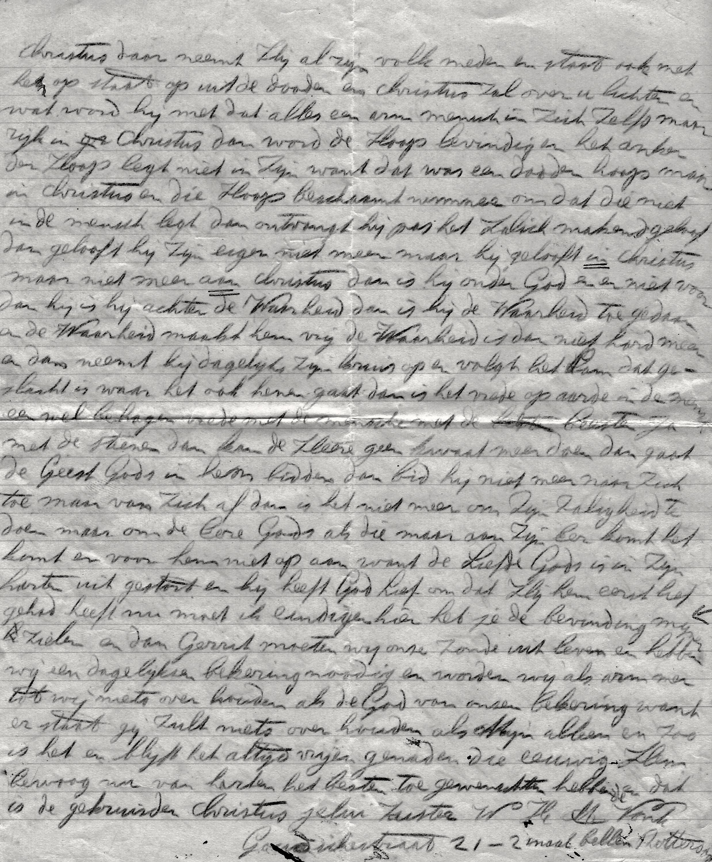 Fragment brief Vrouw Vonk aan Gerrit d.d. 24-7-1929