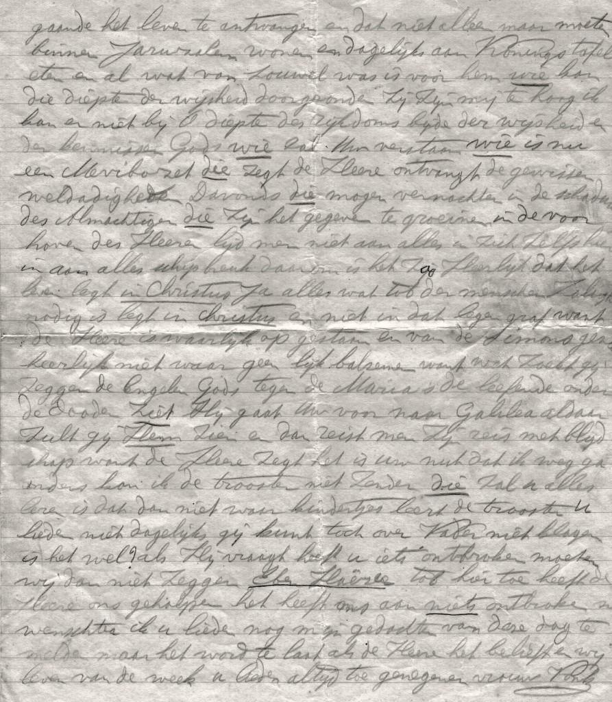 Fragment brief Vrouw Vonk aan het driespan d.d. 14-7-1929