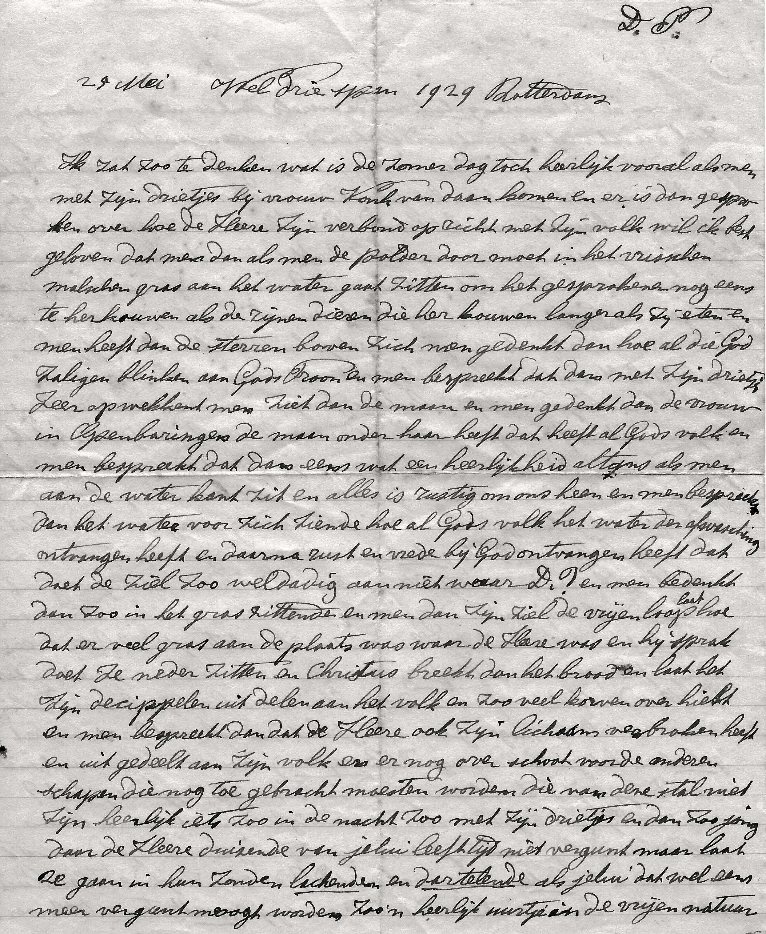 Exemplaar voor D.P. (Dirk Plaizier), eerste pagina